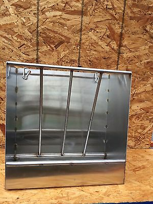 Lot Of 2 Stainless Steel Combination Hay And Grain Feeder For Sheep And Goats
