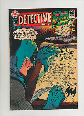 Detective Comics #366 - Classic Batman Writing His Will Cover - (Grade 5.0) 1967