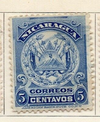 Nicaragua 1909 Early Issue Fine Mint Hinged 5c. 128369