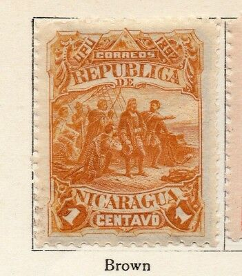 Nicaragua 1892 Early Issue Fine Mint Hinged 1c. 128397