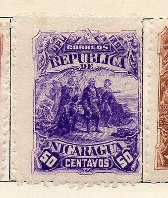 Nicaragua 1892 Early Issue Fine Mint Hinged 50c. 128402