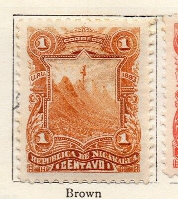 Nicaragua 1893 Early Issue Fine Mint Hinged 1c. 128406