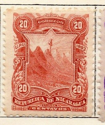 Nicaragua 1893 Early Issue Fine Mint Hinged 20c. 128411