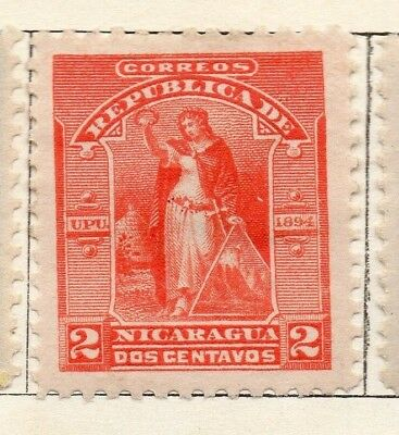 Nicaragua 1894 Early Issue Fine Mint Hinged 2c. 128417