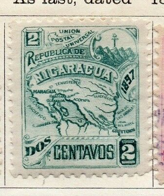 Nicaragua 1897 Early Issue Fine Mint Hinged 2c. 128433