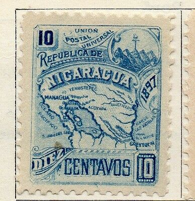 Nicaragua 1897 Early Issue Fine Mint Hinged 10c. 128435