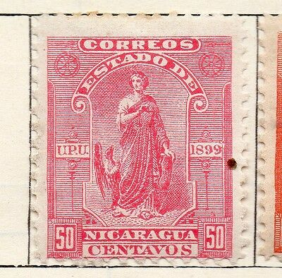 Nicaragua 1899 Early Issue Fine Mint Hinged 50c. 128456