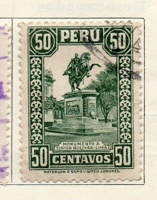 Peru 1932-35 Early Issue Fine Used 50c. 128574
