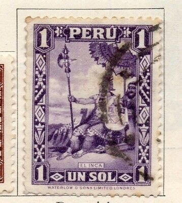 Peru 1934-35 Early Issue Fine Used 1P. 128589
