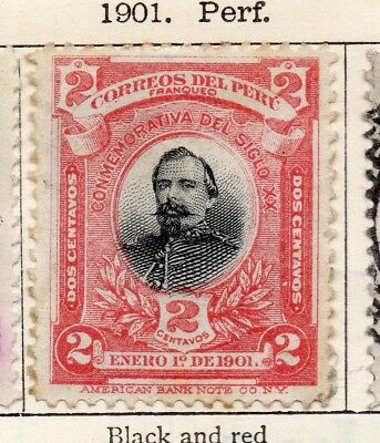 Peru 1901 Early Issue Fine Mint Hinged 2c. 128608