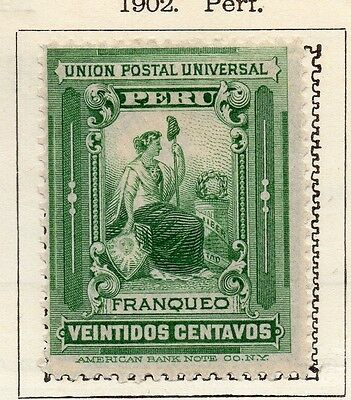 Peru 1902 Early Issue Fine Mint Hinged 22c. 128610