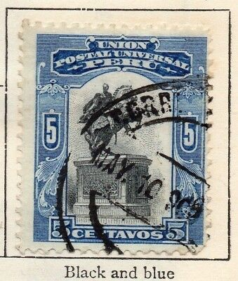 Peru 1907 Early Issue Fine Used 5c. 128617