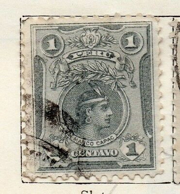 Peru 1909 Early Issue Fine Used 1c. 128621