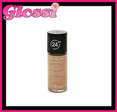 2 x REVLON COLORSTAY 24HR FOUNDATION COMBINATION/OILY 310 WARM GOLDEN FREE POST!