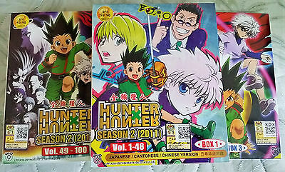 Hunter x Hunter 2011 The Complete Series DVD Box 1 - 3 (148 Episodes ) Eng Subs