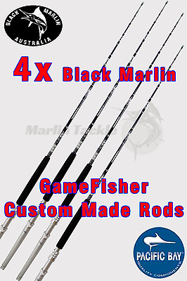 4x BMA 6ft Game Fishing Rods 30-50lb Trolling Boat Rod Marlin Tuna Spanish Mack