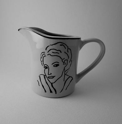 Sango Francesca Handcrafted Ceramic Numbered Creamer Woman's Face