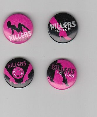the Killers Hot Fuss RARE promo buttons (set of 4) '04