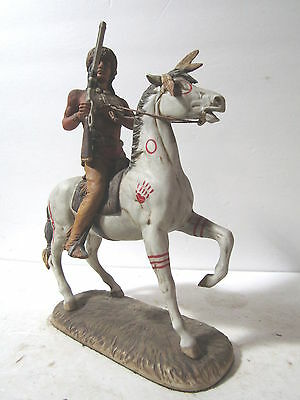 Fred Lammert 1975 Warrior On Horse Porcelain Figurine 42 Years Old