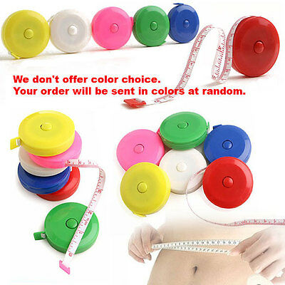 """60"""" Retractable Body Measuring Ruler Sewing Cloth Tailor Tape Measure Soft Ruler"""