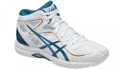asics basketball shoes LADY GELFAIRY 7 TBF402 White / peacock blue