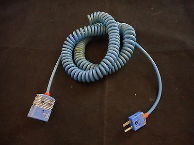 "OMEGA Thermocouple Extension Cable ""T"" Type (Blue) Standard to Mini Plug 3'/36"""