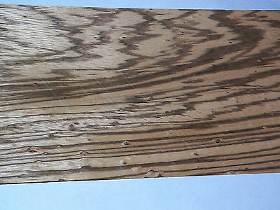 Zebrawood Raw Wood Veneer Sheets  5.25 x 45 inches 1/42nd  thick         4742-11