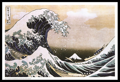 """(FRAMED) JAPAN HOKUSAI GREAT WAVE POSTER 96x66cm or 38""""x26"""" PRINT PICTURE HOME"""