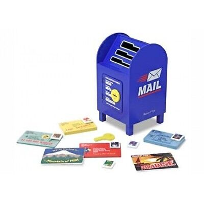 NEW Melissa and Doug Stamp and Sort Mailbox - Kids Wooden Post Mail Box Play Toy