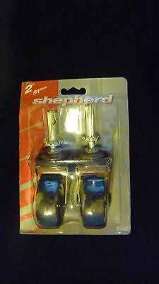 "NEW IN Package Shepherd Hardware 2"" Inch 80 lbs Stem Caster 2-Pack MODEL 9345"