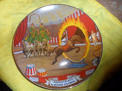 Ringling Bros. and Barnum & Bailey circus collector plate-The Equestrians 1981