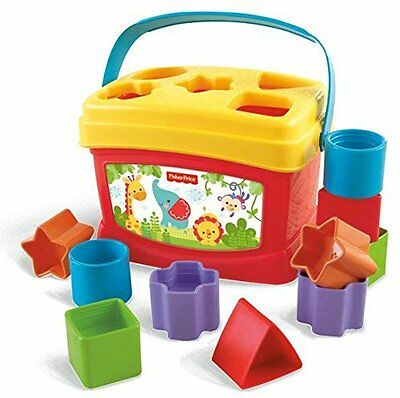 Bright Colorful Shape Blocks Baby Educational Fisher-Price Activity Toddler Toy