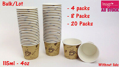 Bulk Lot Paper Coffee Cups 115ml Office Pantry Restaurant Party PC450