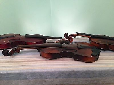 Antique Violin LOT OF 3 FLAME WOOD PROJECTS