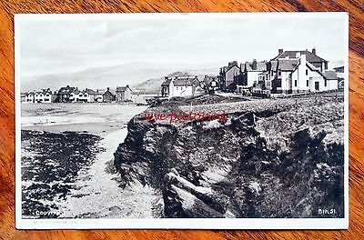 Posted 1932 Printed Postcard Wales Borth From The Cliffs