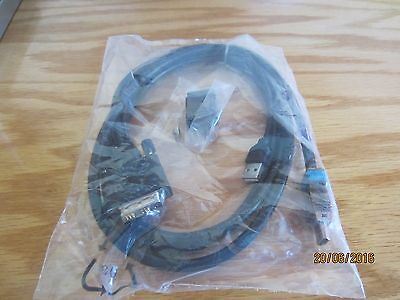 Lot of 4, 6 ft KVM Switch Cables HDMI, DVI 18+1, USB A Male