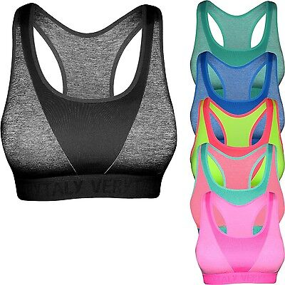 BRA  BH Bustier Damen Top Push Up Sport-BH ohne Bügel Sporttop M L XL  Neu