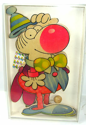 MORDILLO Clown Hampelmann Holz Mobile SEVI ca.27cm Neu (K54)