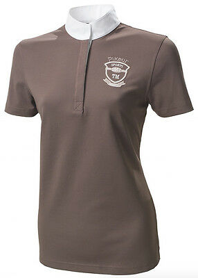 Pikeur Ladies Competition Shirt - short sleeve In Walnut size 40/12