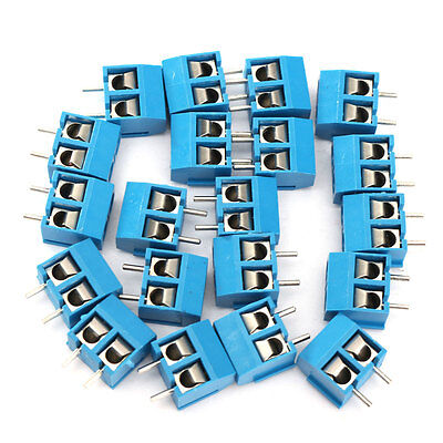 20pcs 2 Pin Plug-in Screw Terminal Block Connector 5.08mm Pitch UK SELLER