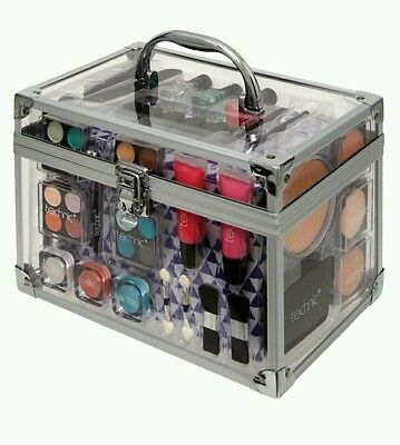 Ladies girls New Quality Technic Make up Kit big box with Clear carry case