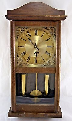 Vintage THE LONDON CLOCK COMPANY Wooden Pendulum Wall Clock.