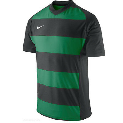Nike Performance Mens Hooped Striped Short Sleeves Rugby Top 467851 036 UA82