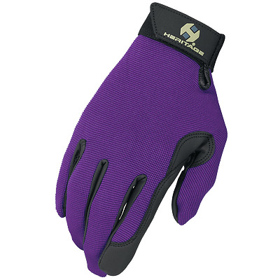 Heritage Performance Riding Gloves - Purple - Various Sizes