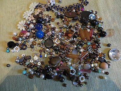 mixed bag of beads & broken jewellery for craft - excellent variety 380 grams