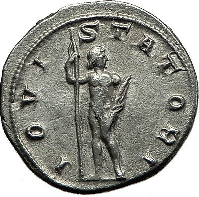 GORDIAN III 241AD Rome Silver Authentic  Ancient Roman Coin Zeus Jupiter i59155