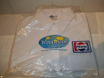 C Vintage Pepsi Mens Large Drivers Employee Shirt NOS Riverside