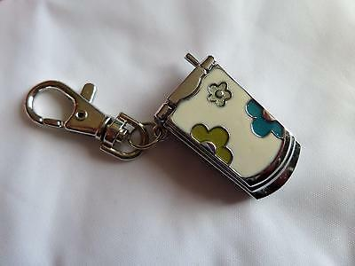Mobile Phone White Keyring Watch (M11)NEW BATTERY BEFORE POSTING FREE P&P