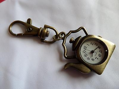 Kettle Keyring Watch (M14)NEW BATTERY BEFORE POSTING FREE P&P Xmas Gift