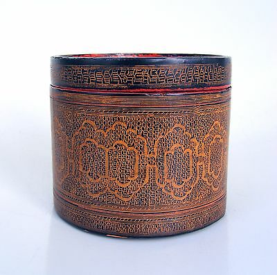 Antique 19th C. Burmese Lacquered Betel Box